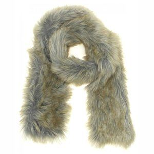 A New Day Faux Fur Stole Cold Weather Scarf Brown